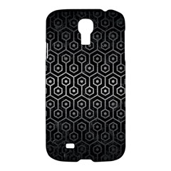 Hexagon1 Black Marble & Gray Metal 1 Samsung Galaxy S4 I9500/i9505 Hardshell Case by trendistuff