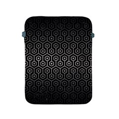 Hexagon1 Black Marble & Gray Metal 1 Apple Ipad 2/3/4 Protective Soft Cases