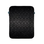HEXAGON1 BLACK MARBLE & GRAY METAL 1 Apple iPad 2/3/4 Protective Soft Cases Front