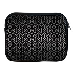 Hexagon1 Black Marble & Gray Metal 1 Apple Ipad 2/3/4 Zipper Cases by trendistuff