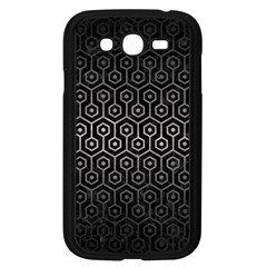 Hexagon1 Black Marble & Gray Metal 1 Samsung Galaxy Grand Duos I9082 Case (black) by trendistuff