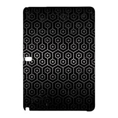 Hexagon1 Black Marble & Gray Metal 1 Samsung Galaxy Tab Pro 10 1 Hardshell Case by trendistuff