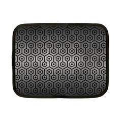Hexagon1 Black Marble & Gray Metal 1 (r) Netbook Case (small)  by trendistuff
