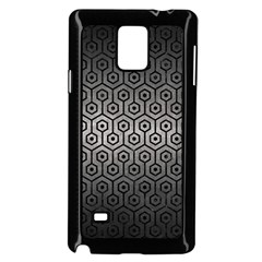 Hexagon1 Black Marble & Gray Metal 1 (r) Samsung Galaxy Note 4 Case (black) by trendistuff