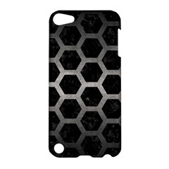 Hexagon2 Black Marble & Gray Metal 1 Apple Ipod Touch 5 Hardshell Case by trendistuff