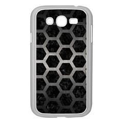 Hexagon2 Black Marble & Gray Metal 1 Samsung Galaxy Grand Duos I9082 Case (white) by trendistuff