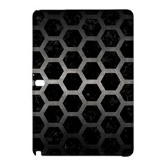 Hexagon2 Black Marble & Gray Metal 1 Samsung Galaxy Tab Pro 10 1 Hardshell Case by trendistuff