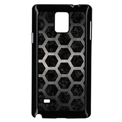 Hexagon2 Black Marble & Gray Metal 1 Samsung Galaxy Note 4 Case (black) by trendistuff