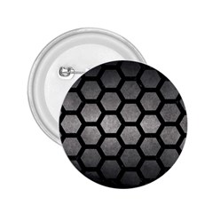 HEXAGON2 BLACK MARBLE & GRAY METAL 1 (R) 2.25  Buttons