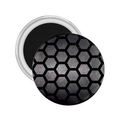 HEXAGON2 BLACK MARBLE & GRAY METAL 1 (R) 2.25  Magnets