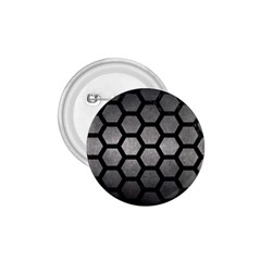 HEXAGON2 BLACK MARBLE & GRAY METAL 1 (R) 1.75  Buttons