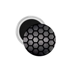 HEXAGON2 BLACK MARBLE & GRAY METAL 1 (R) 1.75  Magnets