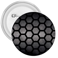 HEXAGON2 BLACK MARBLE & GRAY METAL 1 (R) 3  Buttons