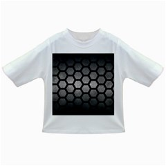 HEXAGON2 BLACK MARBLE & GRAY METAL 1 (R) Infant/Toddler T-Shirts