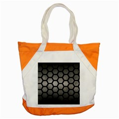HEXAGON2 BLACK MARBLE & GRAY METAL 1 (R) Accent Tote Bag