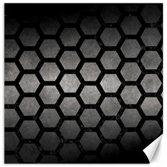 Hexagon2 Black Marble & Gray Metal 1 (r) Canvas 20  X 20   by trendistuff
