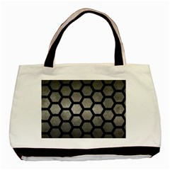 HEXAGON2 BLACK MARBLE & GRAY METAL 1 (R) Basic Tote Bag (Two Sides)