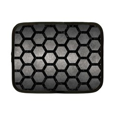 HEXAGON2 BLACK MARBLE & GRAY METAL 1 (R) Netbook Case (Small)