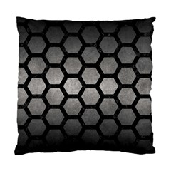 HEXAGON2 BLACK MARBLE & GRAY METAL 1 (R) Standard Cushion Case (One Side)