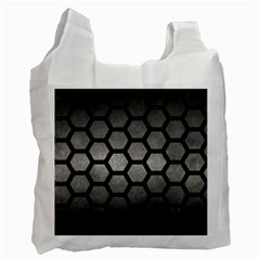 HEXAGON2 BLACK MARBLE & GRAY METAL 1 (R) Recycle Bag (Two Side)