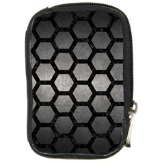 HEXAGON2 BLACK MARBLE & GRAY METAL 1 (R) Compact Camera Cases