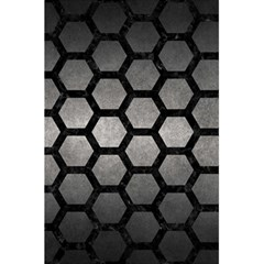 HEXAGON2 BLACK MARBLE & GRAY METAL 1 (R) 5.5  x 8.5  Notebooks