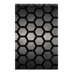 HEXAGON2 BLACK MARBLE & GRAY METAL 1 (R) Shower Curtain 48  x 72  (Small)