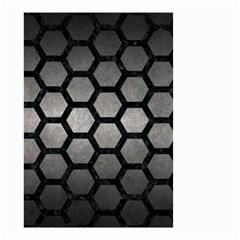 HEXAGON2 BLACK MARBLE & GRAY METAL 1 (R) Small Garden Flag (Two Sides)