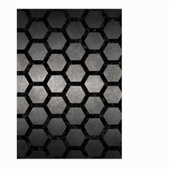 HEXAGON2 BLACK MARBLE & GRAY METAL 1 (R) Large Garden Flag (Two Sides)