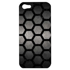 HEXAGON2 BLACK MARBLE & GRAY METAL 1 (R) Apple iPhone 5 Hardshell Case