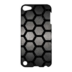 HEXAGON2 BLACK MARBLE & GRAY METAL 1 (R) Apple iPod Touch 5 Hardshell Case