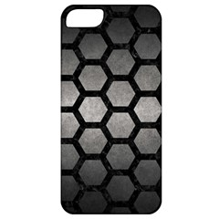 HEXAGON2 BLACK MARBLE & GRAY METAL 1 (R) Apple iPhone 5 Classic Hardshell Case