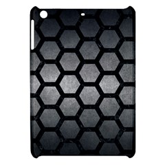Hexagon2 Black Marble & Gray Metal 1 (r) Apple Ipad Mini Hardshell Case by trendistuff