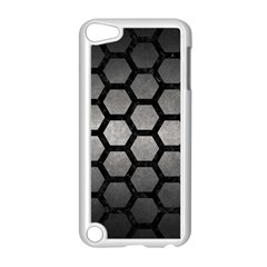 HEXAGON2 BLACK MARBLE & GRAY METAL 1 (R) Apple iPod Touch 5 Case (White)