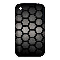HEXAGON2 BLACK MARBLE & GRAY METAL 1 (R) iPhone 3S/3GS