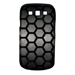 HEXAGON2 BLACK MARBLE & GRAY METAL 1 (R) Samsung Galaxy S III Classic Hardshell Case (PC+Silicone)