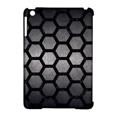 HEXAGON2 BLACK MARBLE & GRAY METAL 1 (R) Apple iPad Mini Hardshell Case (Compatible with Smart Cover)