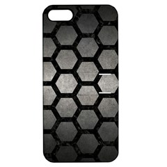 HEXAGON2 BLACK MARBLE & GRAY METAL 1 (R) Apple iPhone 5 Hardshell Case with Stand