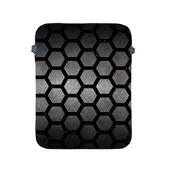 HEXAGON2 BLACK MARBLE & GRAY METAL 1 (R) Apple iPad 2/3/4 Protective Soft Cases