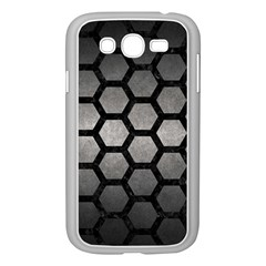HEXAGON2 BLACK MARBLE & GRAY METAL 1 (R) Samsung Galaxy Grand DUOS I9082 Case (White)