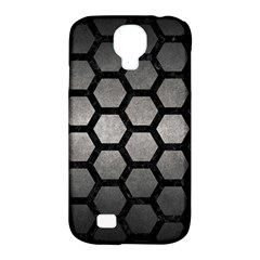 HEXAGON2 BLACK MARBLE & GRAY METAL 1 (R) Samsung Galaxy S4 Classic Hardshell Case (PC+Silicone)