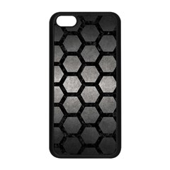 HEXAGON2 BLACK MARBLE & GRAY METAL 1 (R) Apple iPhone 5C Seamless Case (Black)