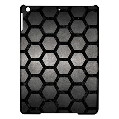 HEXAGON2 BLACK MARBLE & GRAY METAL 1 (R) iPad Air Hardshell Cases