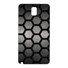 HEXAGON2 BLACK MARBLE & GRAY METAL 1 (R) Samsung Galaxy Note 3 N9005 Hardshell Back Case