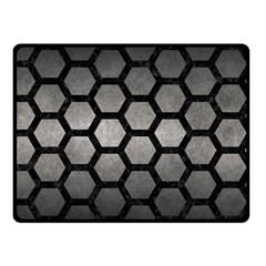 HEXAGON2 BLACK MARBLE & GRAY METAL 1 (R) Double Sided Fleece Blanket (Small)