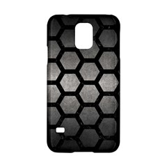 HEXAGON2 BLACK MARBLE & GRAY METAL 1 (R) Samsung Galaxy S5 Hardshell Case