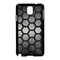 HEXAGON2 BLACK MARBLE & GRAY METAL 1 (R) Samsung Galaxy Note 3 Neo Hardshell Case (Black)