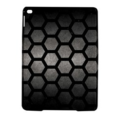 HEXAGON2 BLACK MARBLE & GRAY METAL 1 (R) iPad Air 2 Hardshell Cases