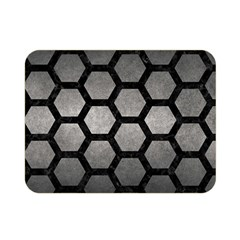 HEXAGON2 BLACK MARBLE & GRAY METAL 1 (R) Double Sided Flano Blanket (Mini)