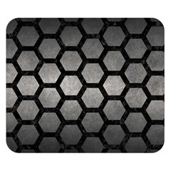 HEXAGON2 BLACK MARBLE & GRAY METAL 1 (R) Double Sided Flano Blanket (Small)